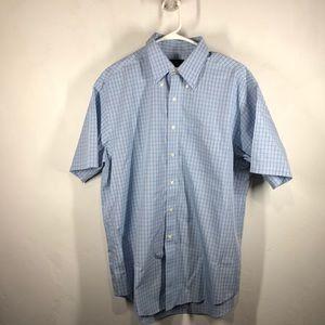 346 Brooks Brothers blue plaid shirt size large
